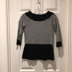 White House Black Market peplum sweater Size XS